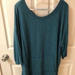 Dark green tunic top